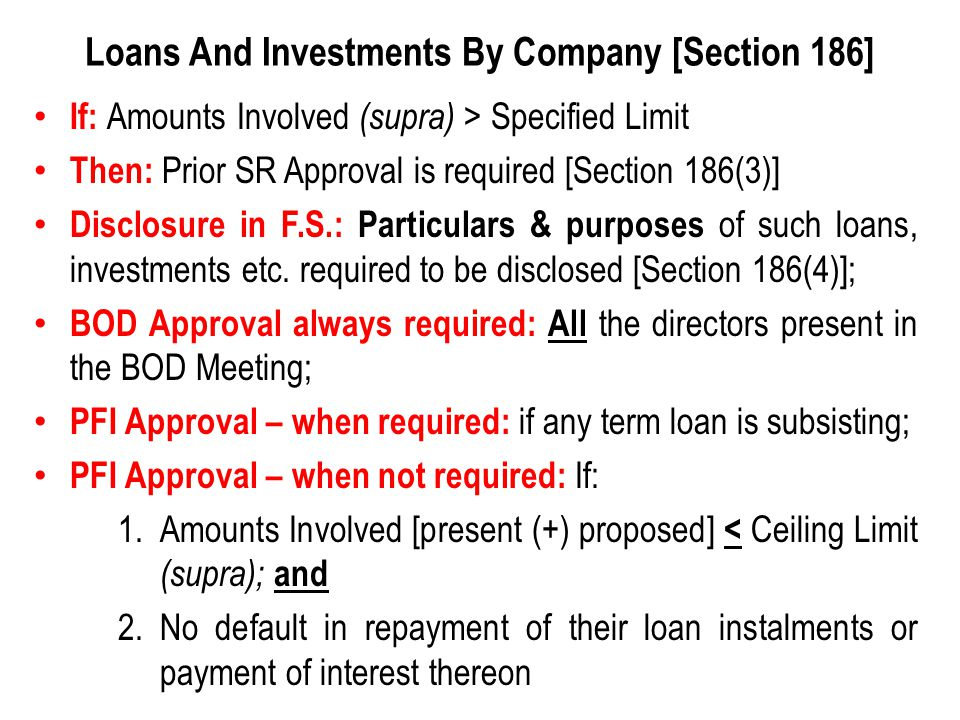 Loans And Investments By Company [Section 186]